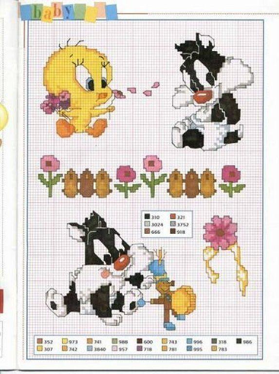 graficos infantiles punto de cruz | Punto Cruz - Looney Tunes ...