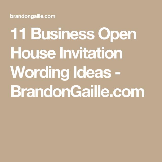 House Invitation Wording Ideas