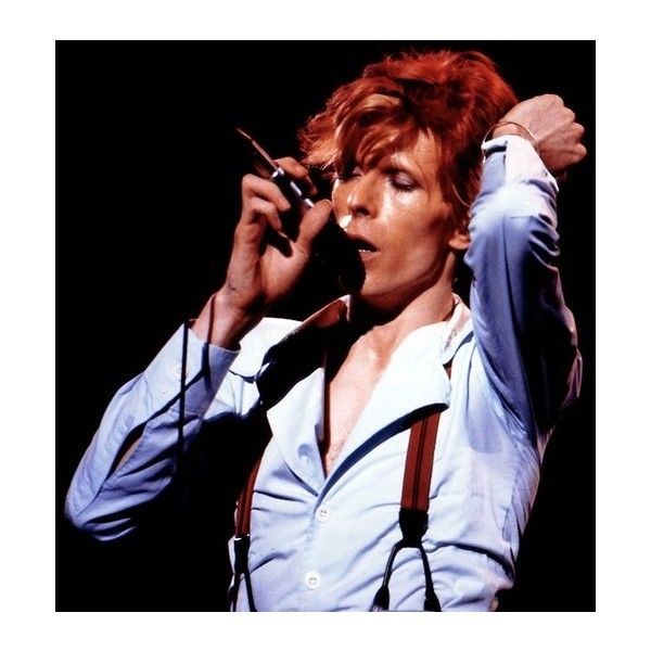 Super Seventies — David Bowie ❤ liked on Polyvore featuring david bowie