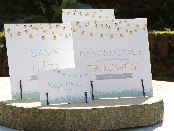 save the date, uitnodigingen en bedank kaarten (van Mooi Ook) #savethedate #uitnodigingen