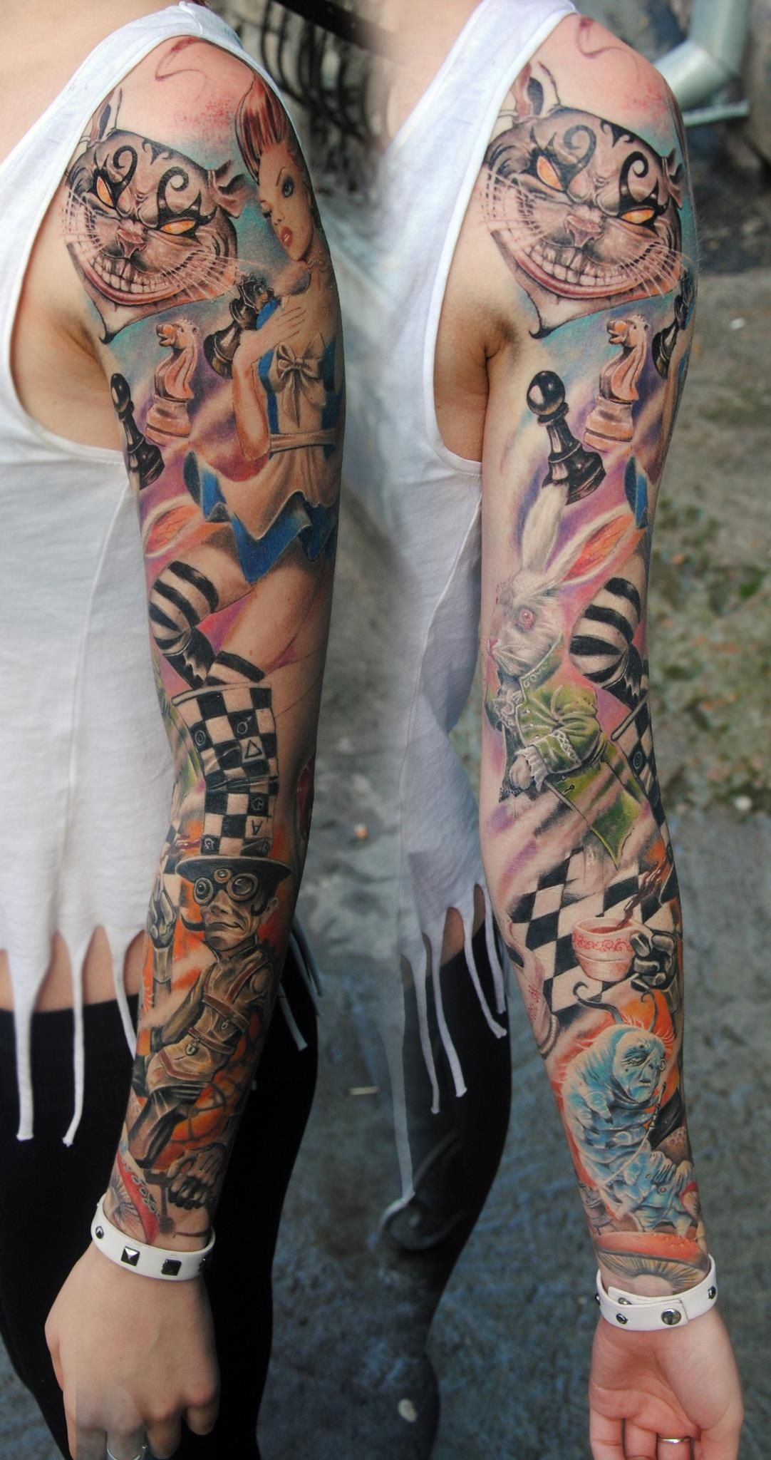 Love The Detail In This One Tattoo Ideas Alice In Wonderland