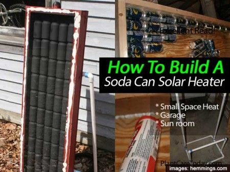 how to build a solar panel from soda cans