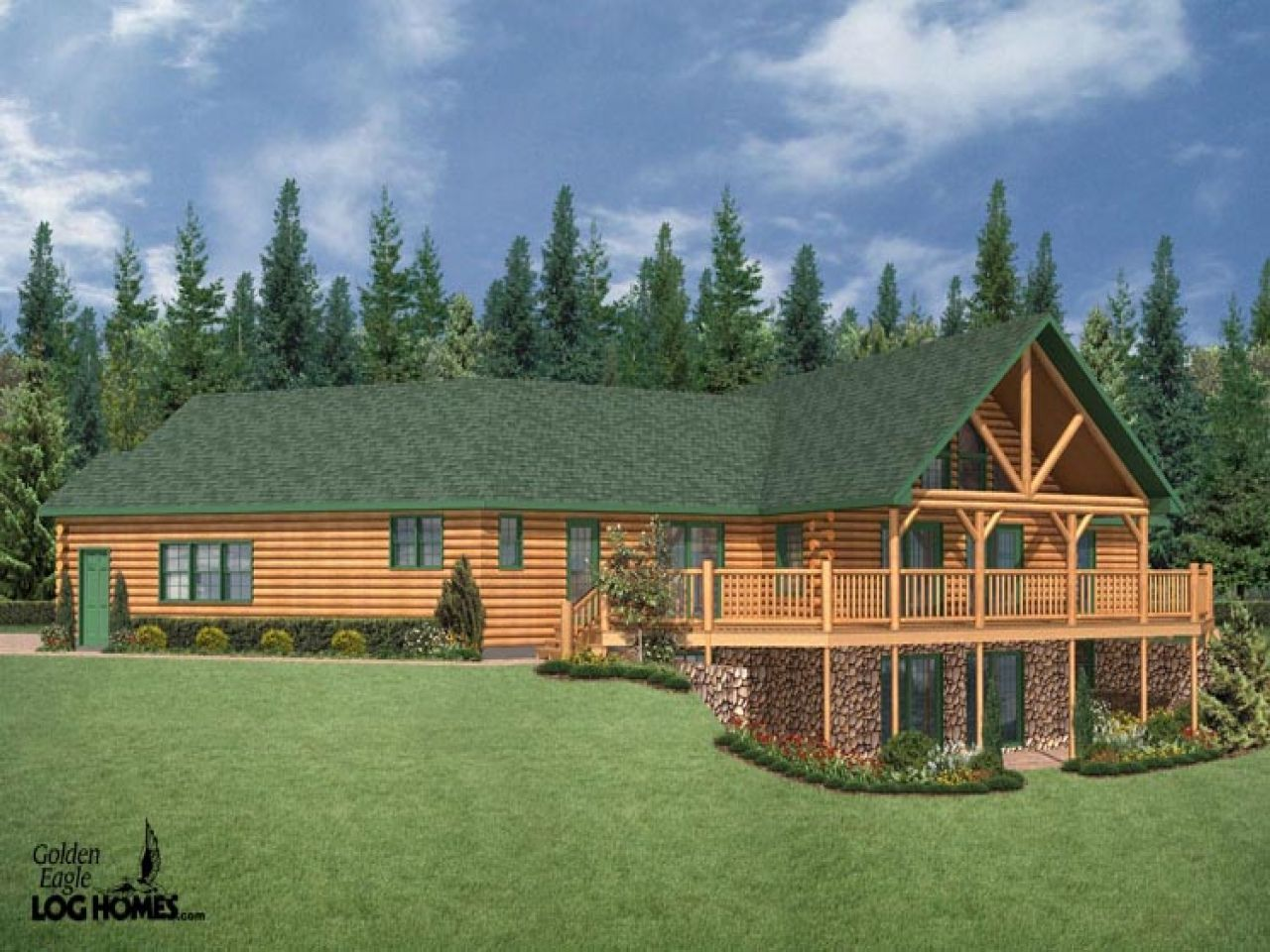 Style Log Homes Cabin Ranch Home Plans Modular Prices