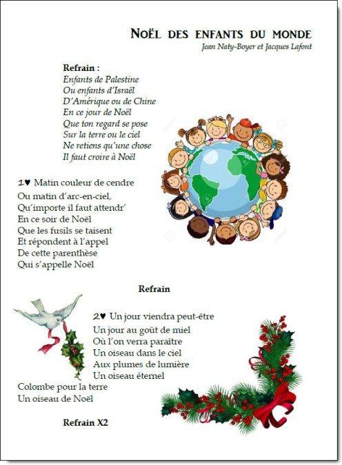 Chant no l des enfants du monde la ma tresse a des yeux dans le dos par - Noel enfant du monde ...