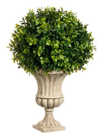 16 Inches High Boxwood Ball Shaped Artificial Topiary Plant With