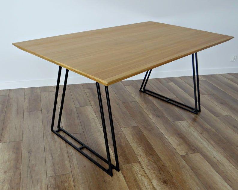 Pieds Metalliques De La Table A Manger Lot De 2 Pieds De Table De Mercure Base De Table Cadre En Metal Trapeze Pour Le Milieu Du Siecle Moderne Table In 2020