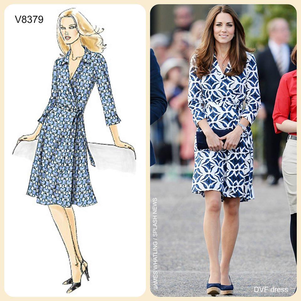 Vogue V8379 wrap dress. http://voguepatterns.mccall.com/v8379 ...