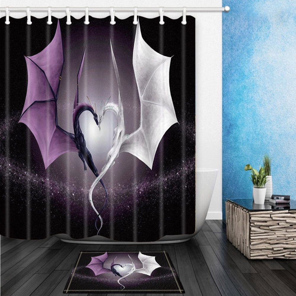 Creative Dragon Bathroom Waterproof Polyester Shower Curtain