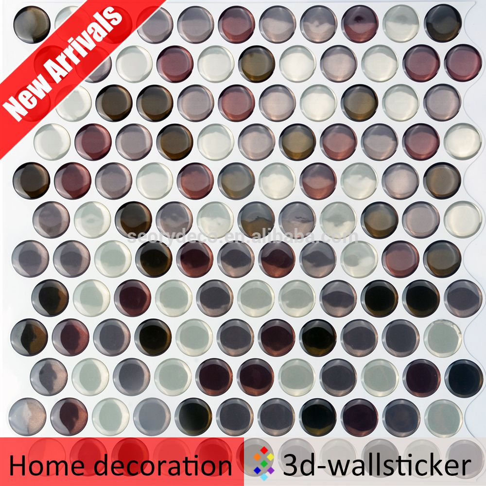 peel and stick wall sticker round tile bathroom art deco wall tiles