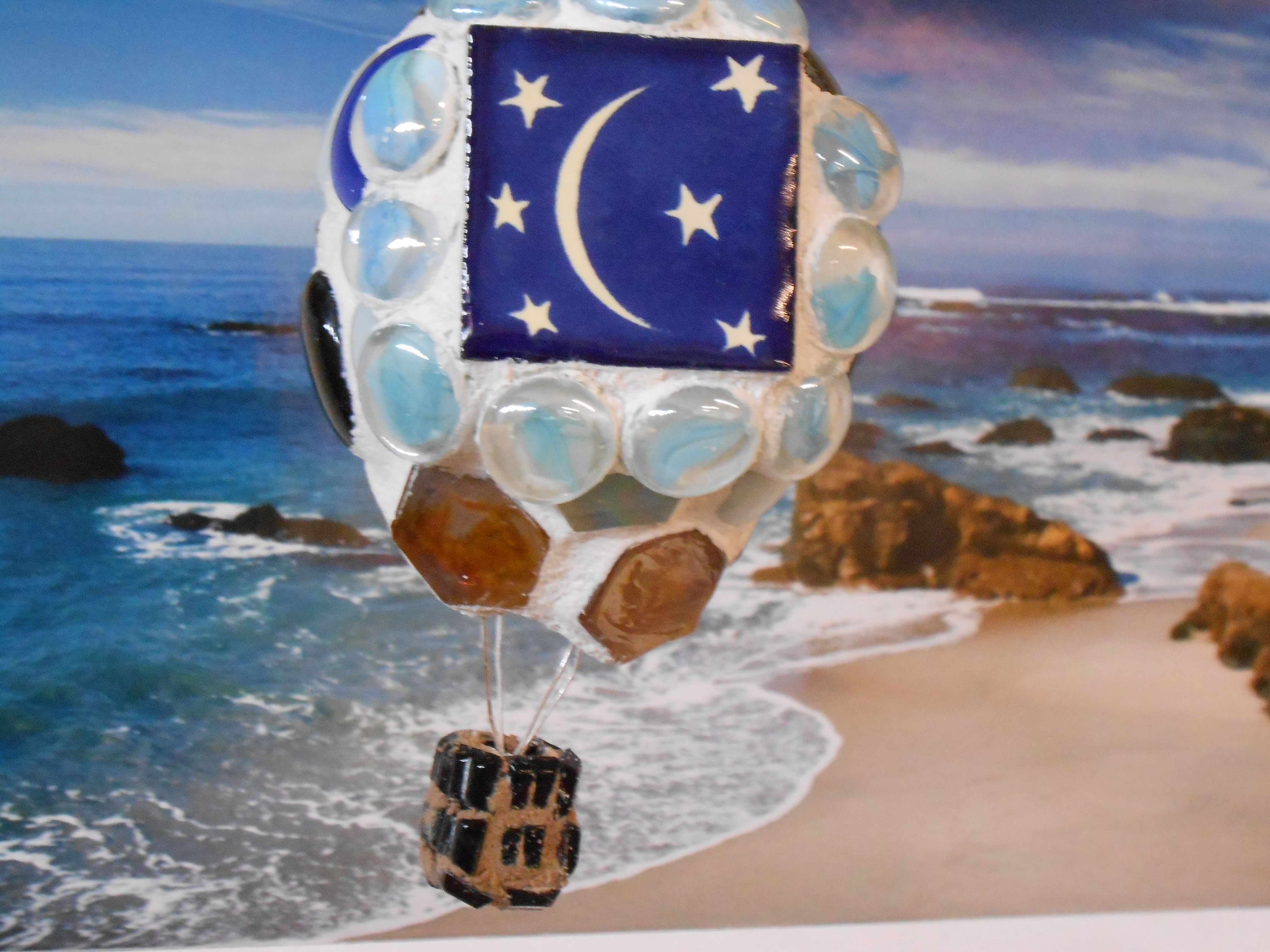 Starry Night pretty Mosaic Hot Air Balloon for sale on
