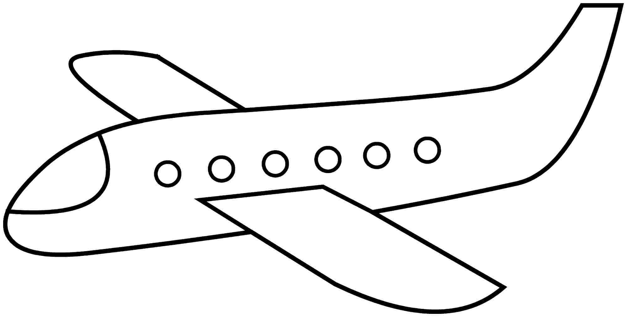 simple airplane coloring pages - Google Search | Face Paint ...