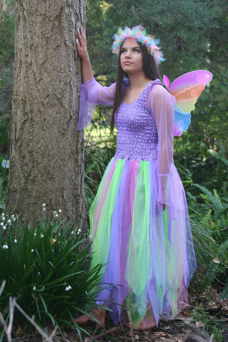 Woman's and PLUS SIZE Fairy 'Rainbow' Costume with Etsy