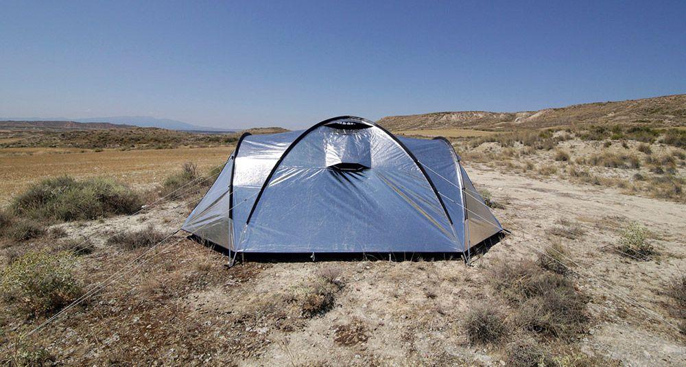 Shiny u0027Metalu0027 Fabric Tent Reflects Heat & Shiny u0027Metalu0027 Fabric Tent Reflects Heat   Tents and South america