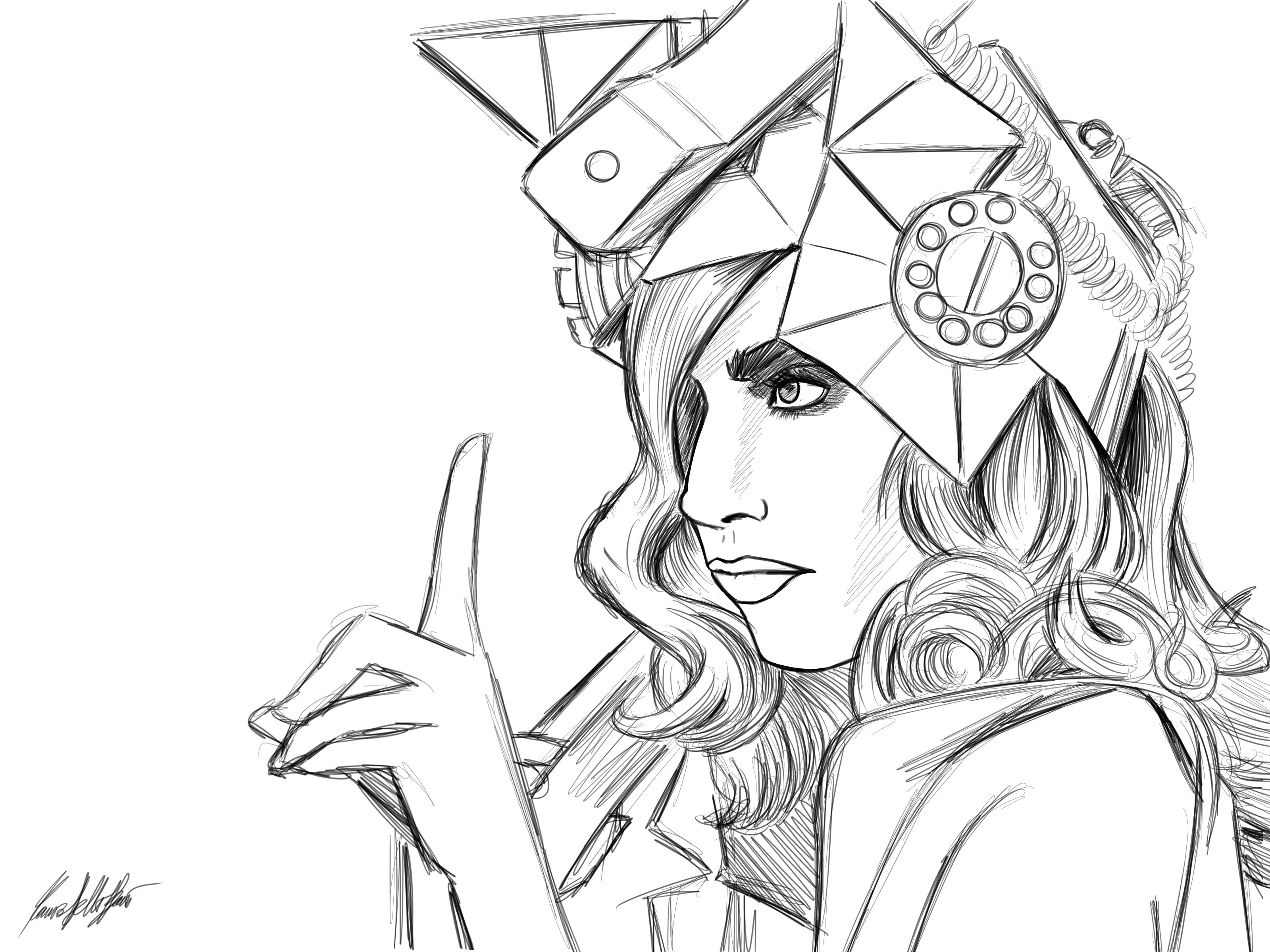 image detail for lady gaga coloring picture pretty lady