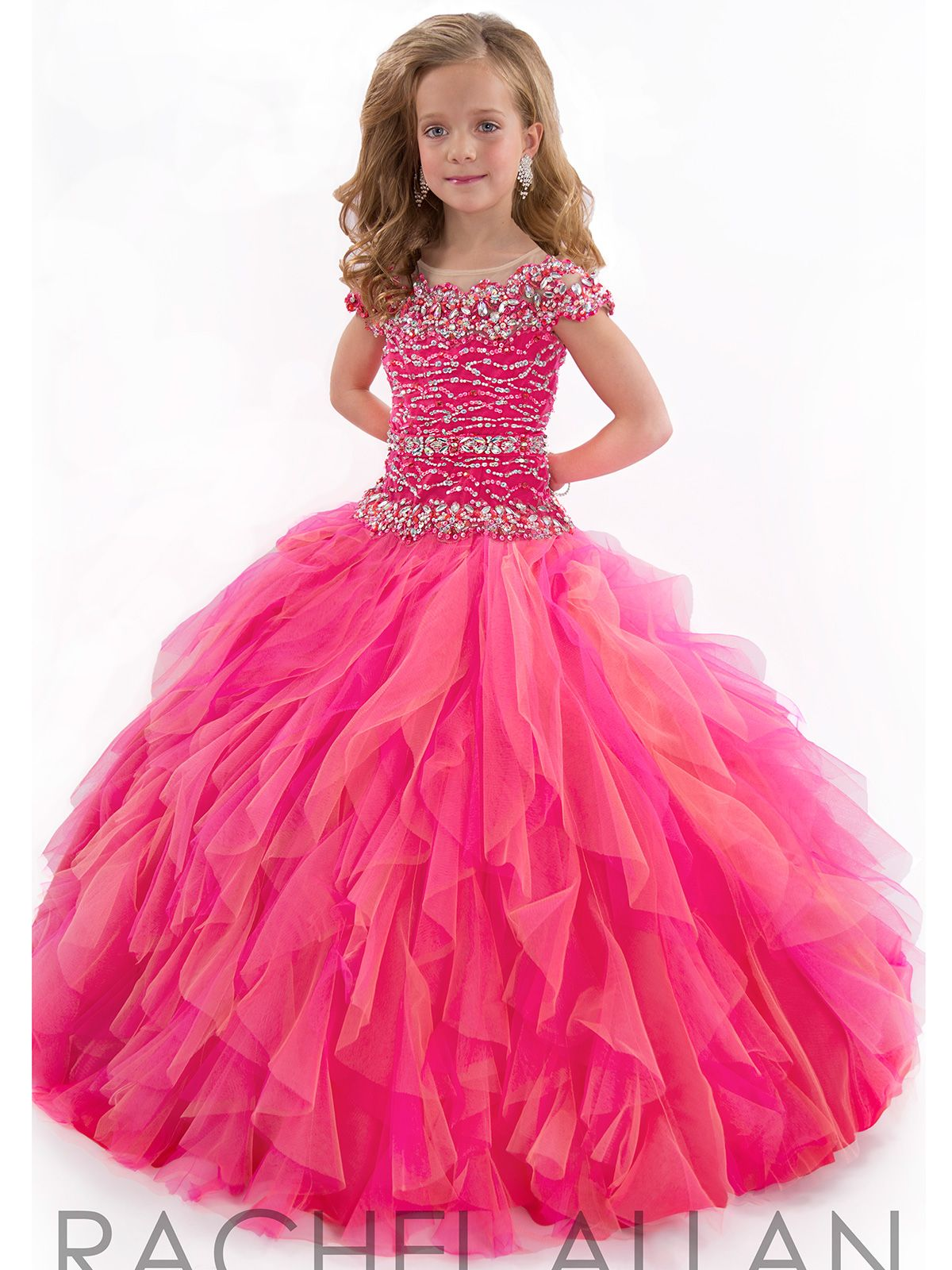 Little girl pageant dress Perfect Angel by Rachel Allan. Your little  princess will shine on