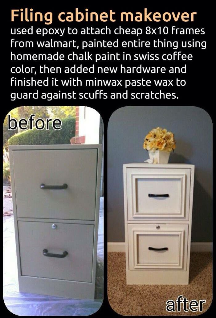 Convert A File Cabinet Into A Chic Drawer Unit With Molding And A Fresh  Coat Of