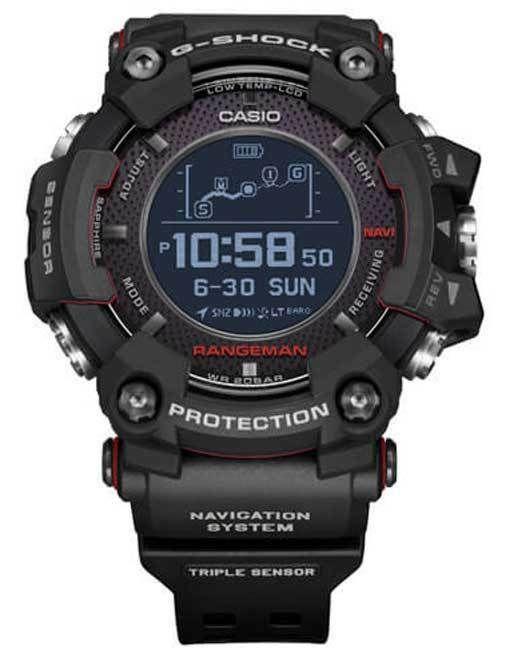 New Casio G Shock Rangeman Solar Gps Navigation Bluetooth Watch Gprb1000 1 G Shock Watches Mens Casio Watch Casio G Shock