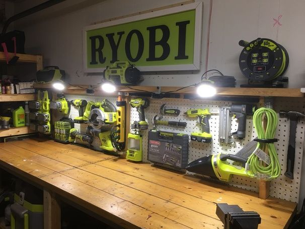 ryobi nation ryobi tool center ryobi tools garage on garage organization ideas that will save you space keeping things simple id=53371