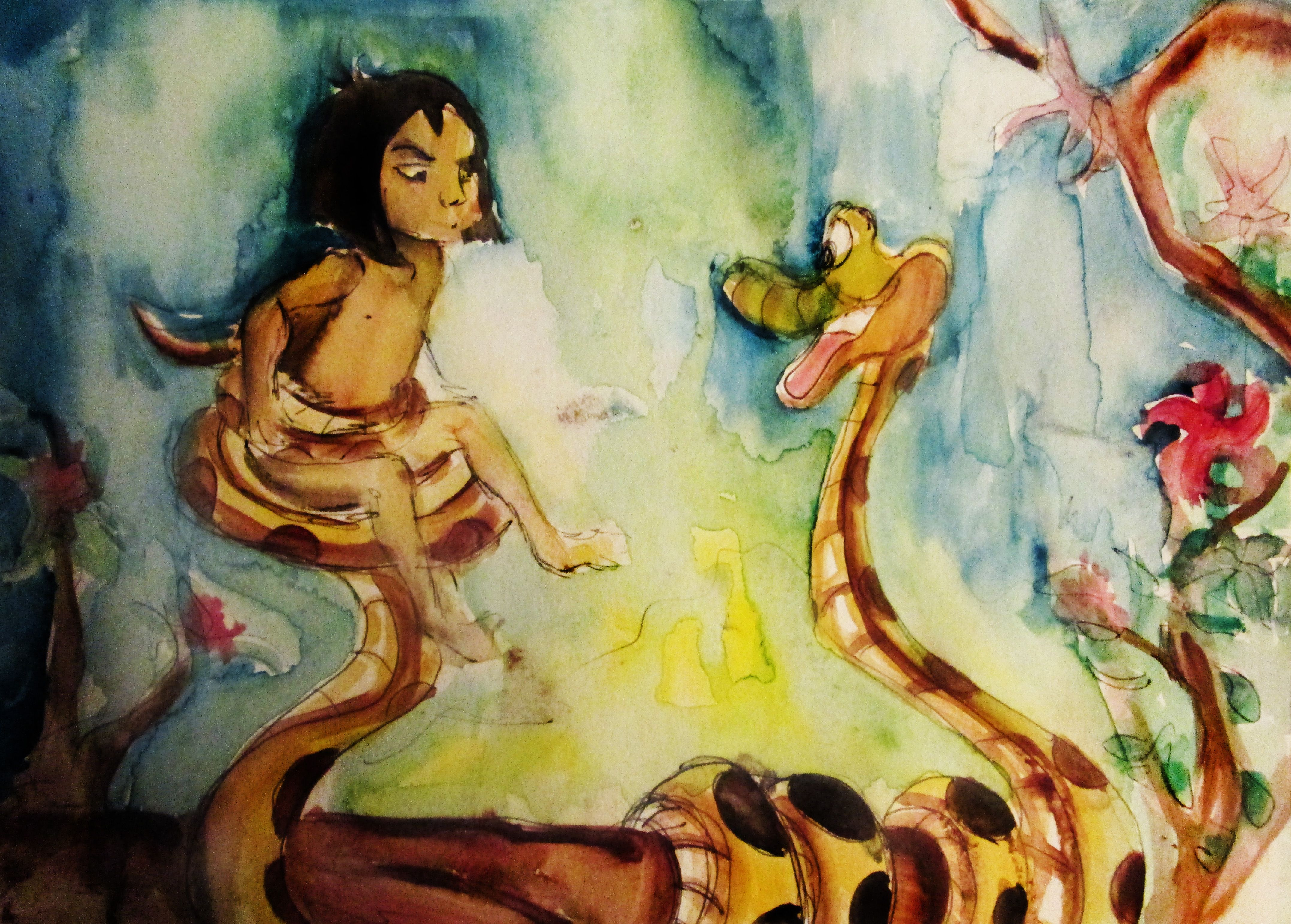 The junglebook disney watercolor