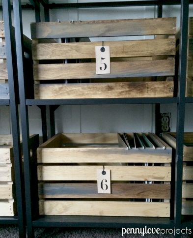 Turn A Joann Fabrics Crate Into Vintage File Box Using Wood Ser And Some Weathered Oak Stain Pennyloveprojects