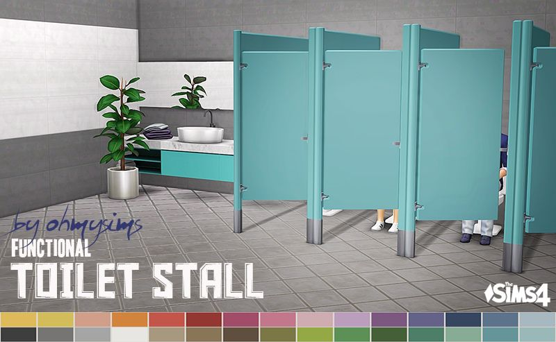 Functional Toilet Stall I Finally Yes There Are So Many Things I Ve Wanted To Make Functional Made This Ts3 Toilet Stall Fun Sims Sims 4 Sims 4 Cc Furniture