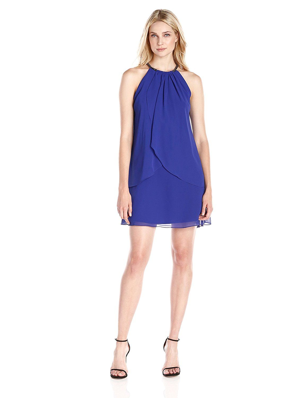 Sl sl fashion dresses - S L Fashions Women S Solid Chiffon Halter Dress Unbelievable Item Right Here