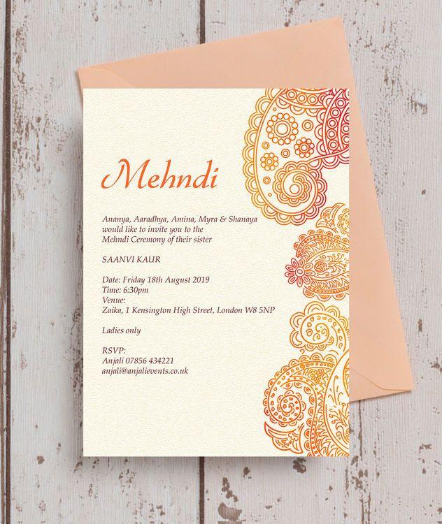 Mehndi Invitation Henna Invitation Instant Download Etsy Invitation Card Design Invitations Invitation Cards