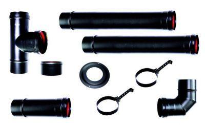 kit stufa a pellet tubi 80 mm tubo neri smaltati resistenti 600 ...