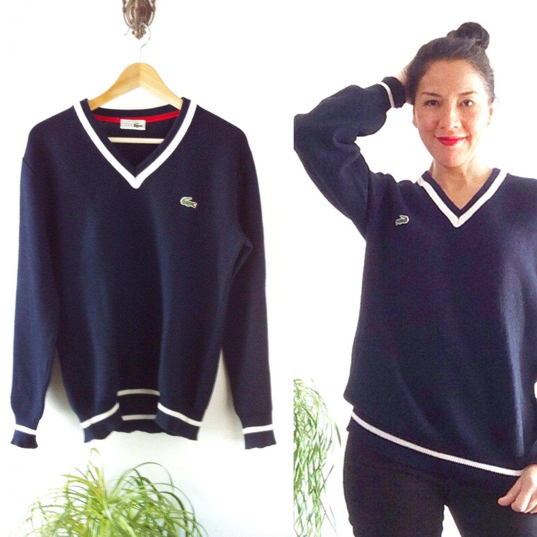 SweaterMens Vintage Lacoste Tennis Sweater MenPulloveBlue SzVqUpM