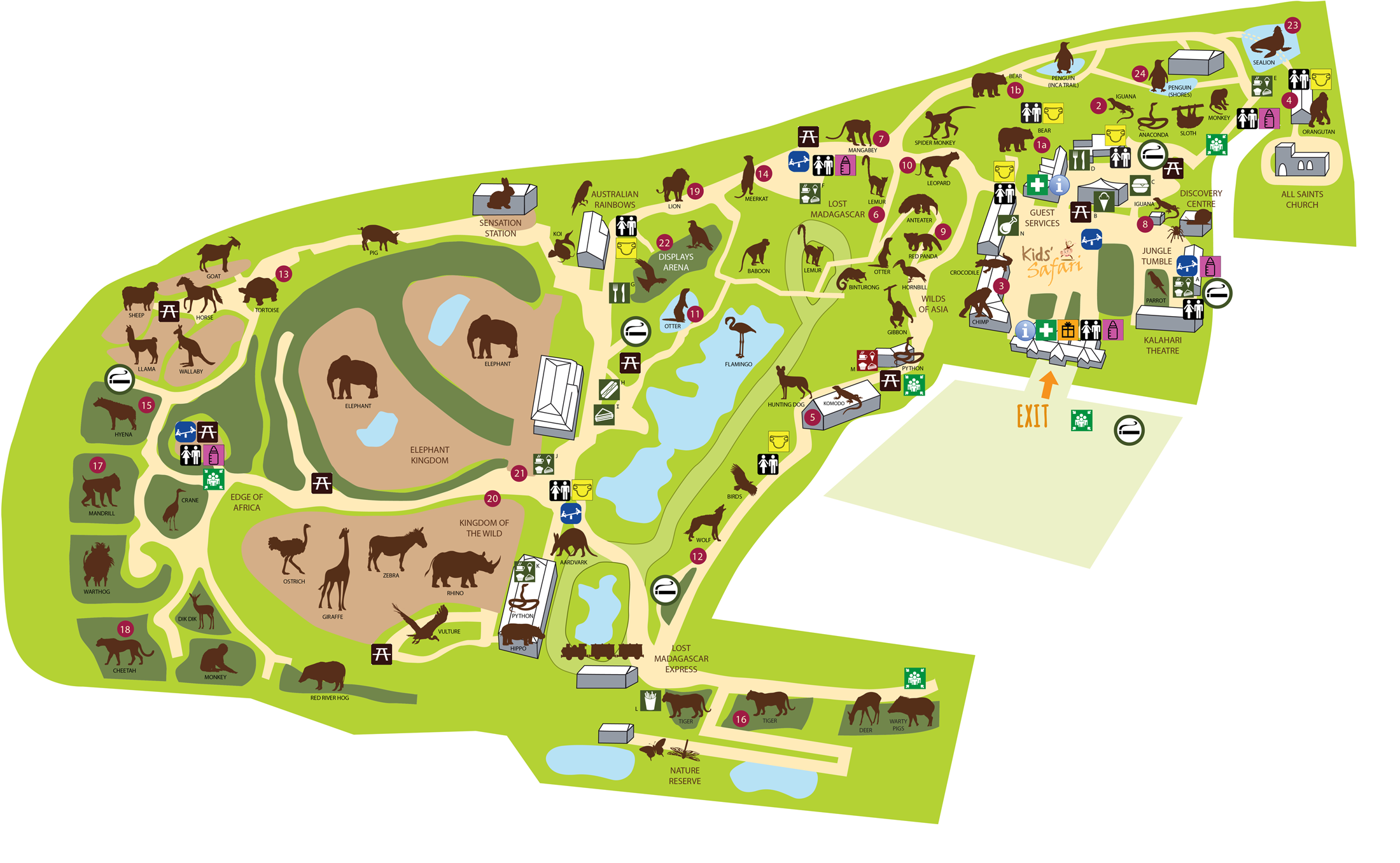 Colchester Zoo Map Zoo Map   Colchester Zoo | Zoos❤️ | Zoo map, Colchester zoo, Map