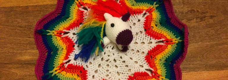 Rainbow Unicorn Security Blanket #securityblankets