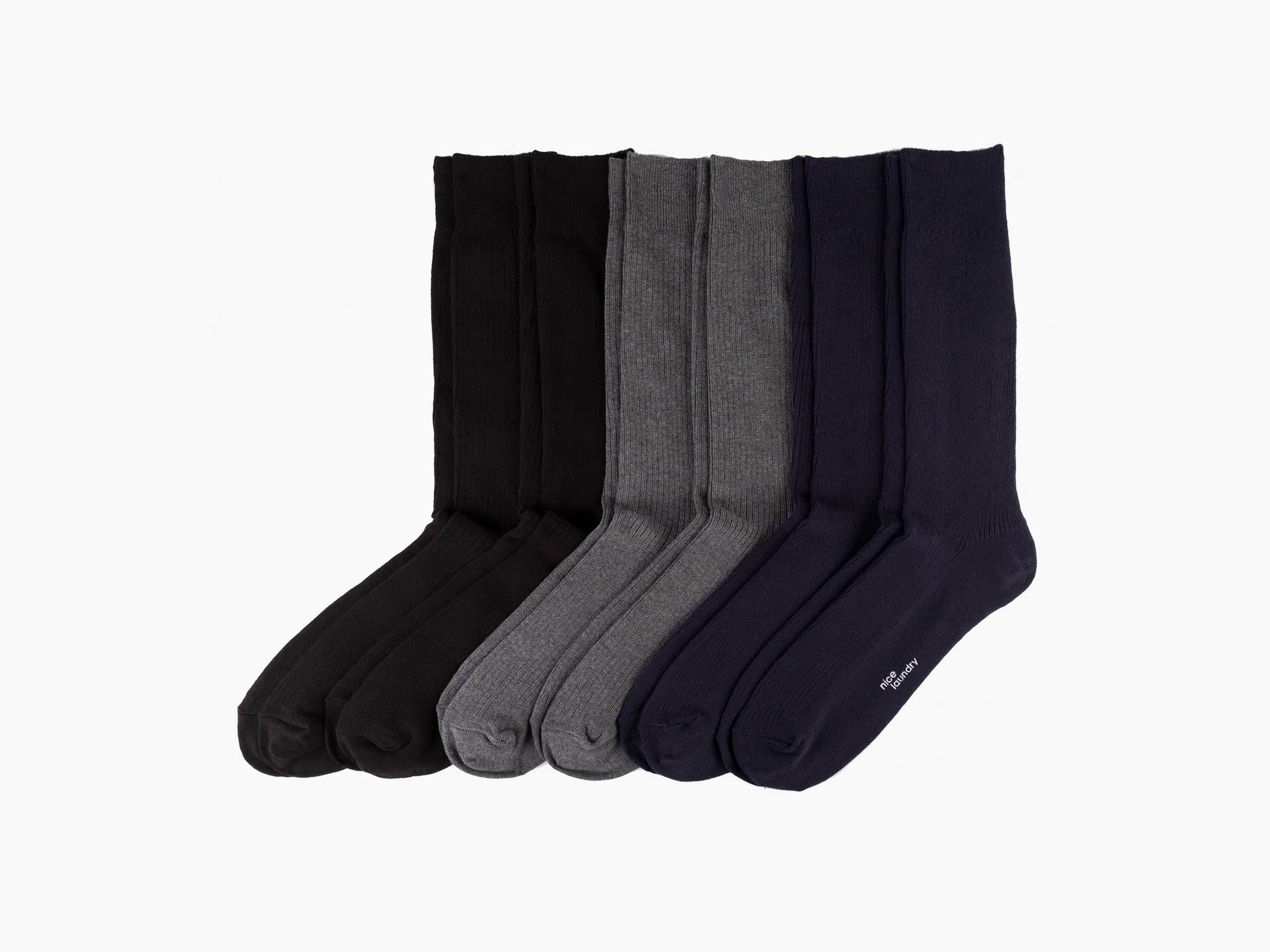 True Ribbed Dress Socks Nice Laundry Nice Laundry Lounge