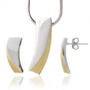 Anka Bizuteria Sklep Komplet Srebrny Pozlacany Items Allegro