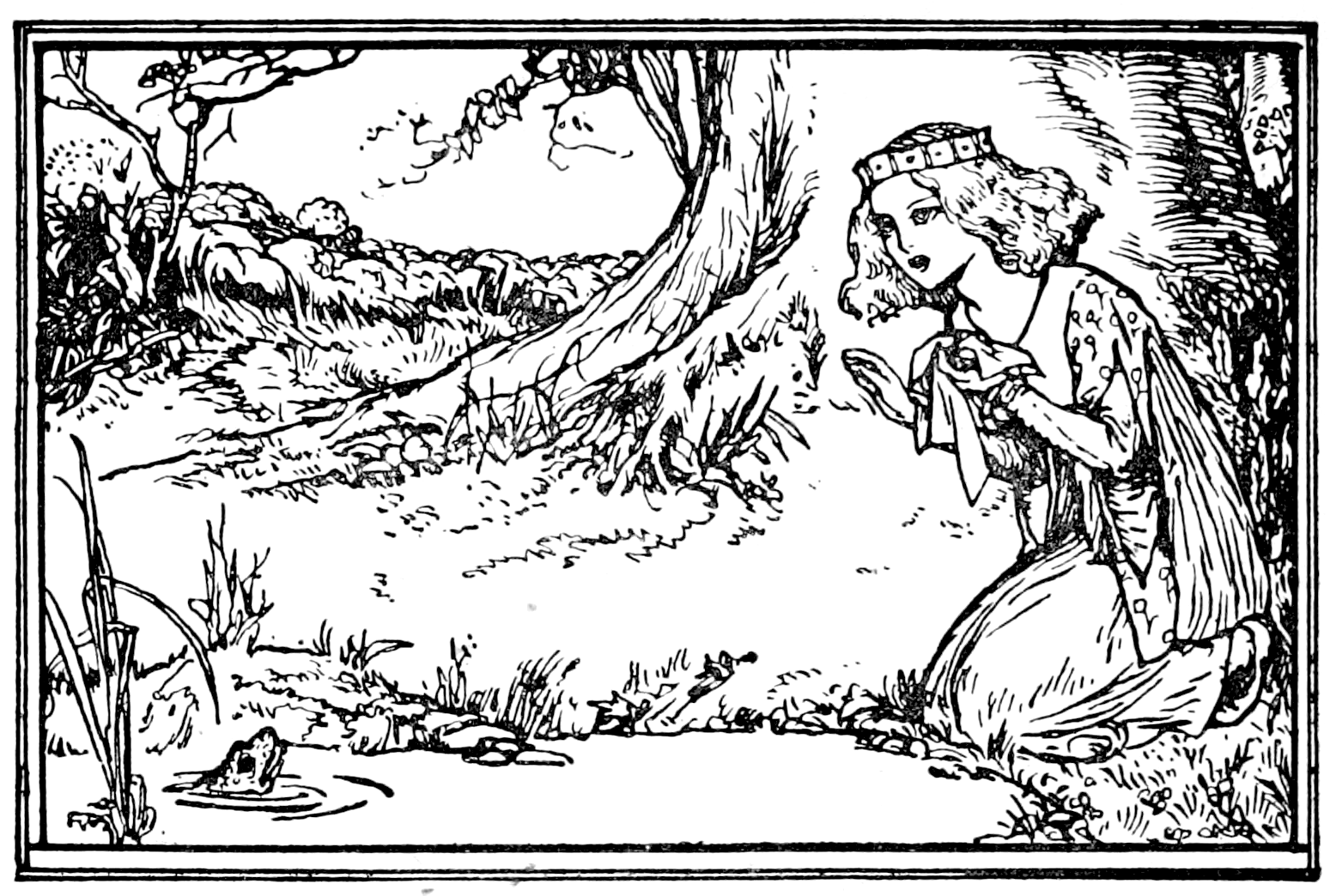 Robert anning bell frog prince from grimmus household tales