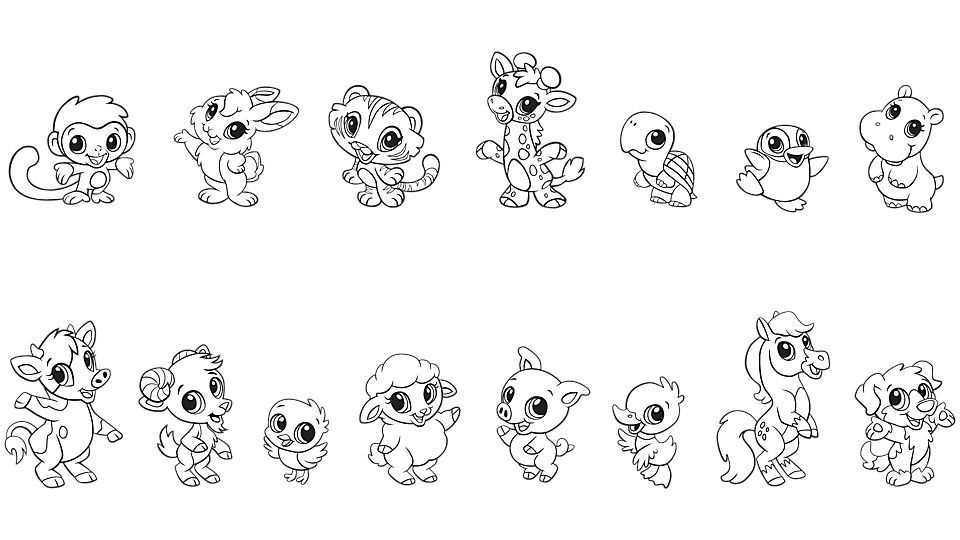 Free Printable Coloring Pages Cute Animals
