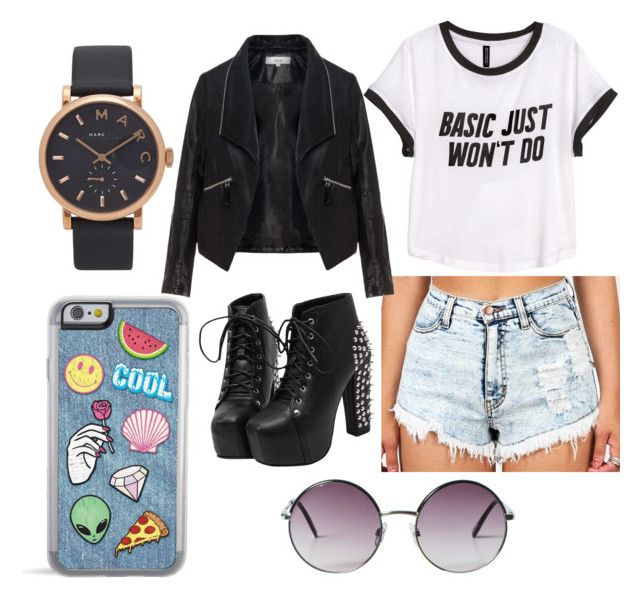 """""""Basic Just Won't Do"""" by cmankin on Polyvore featuring polyvore fashion style H&M Zizzi Marc Jacobs Monki clothing"""