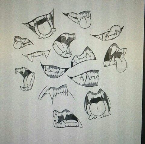 Monster Mouths Art Reference Mouth Drawing Drawing Reference