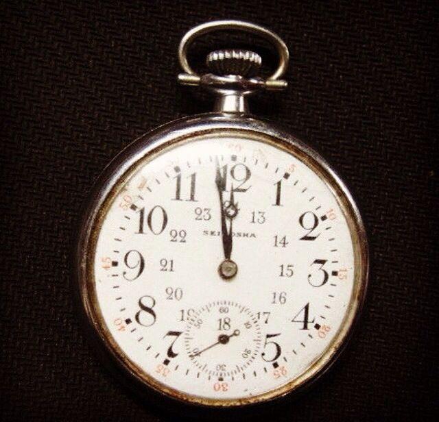 Original WW2 Pocket Watch. Part of Motto Cuisine exhibit.