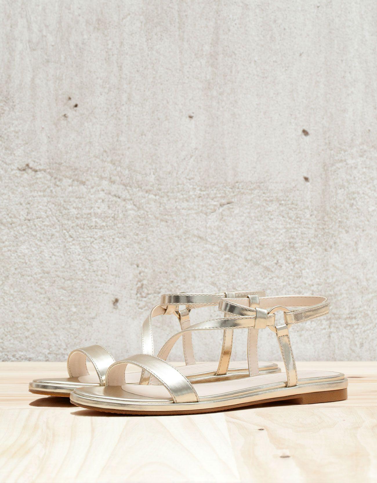Access Denied Strappy Sandals Flat Flat Sandals Gold Flat Sandals