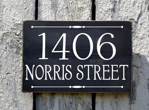 Address Plaque Custom House Numbers Sign Personalized Outdoor