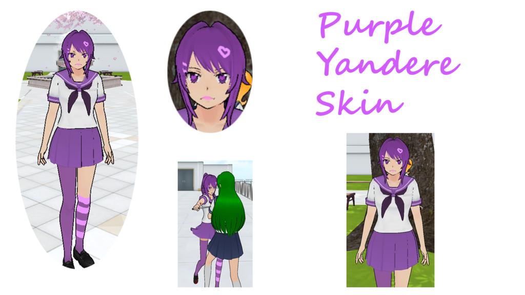 Custom uniform,face,hairstyle purple Yandere simulator