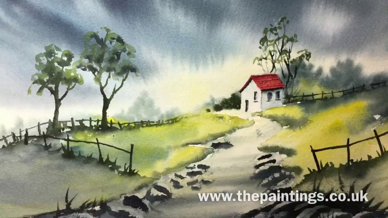 Watercolour Painting Demonstration By Bill Lupton The Red Roof