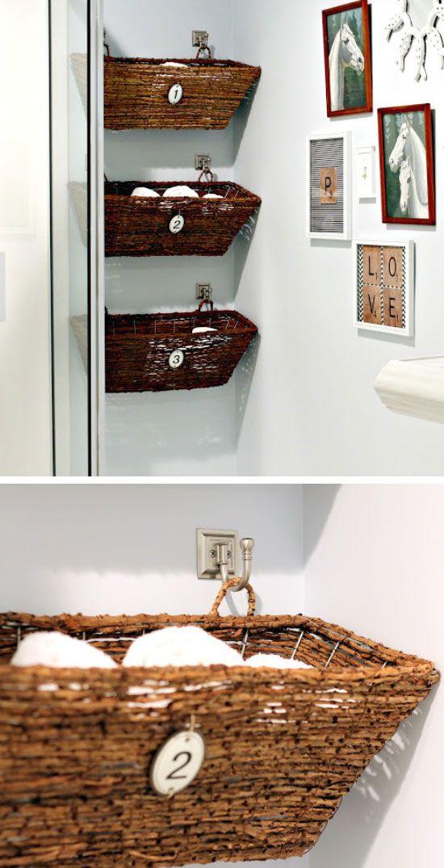 20 Diy Bathroom Storage Ideas For Small Spaces Idee Per Il Bagno Idee Per Decorare La Casa Decorare Il Bagno