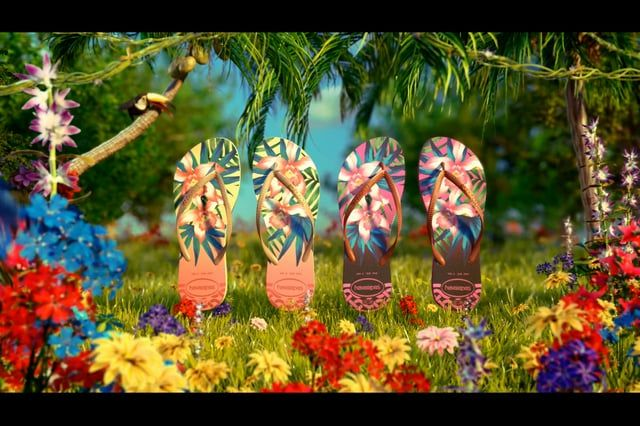 Créditos  Almap | Havaianas | Tropical     Director: Luciano Neves.  Executive Producer : Monica Delfini  Concepts: Luciano Neves  3D Modeling: Mauricio Gomes | Arthur Duque  Animation: Fernando Fracaroli | Nicolás Taró  Rigging: Fernando Fracaroli | Nicolás Taró  Texturing: Mauricio Gomes | Arthur Duque   Shading: Mauricio Gomes |  Arthur Duque  Lighting: Mauricio Gomes   Render:Mauricio Gomes  Effects: Arthur Duque   Composition: Luciano Neves