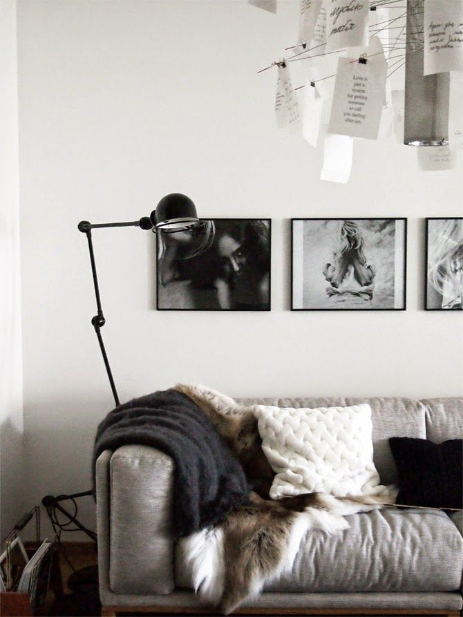 Add textures in layers. Soft reindeer hides, throws and cushions. Pure and inspired by nature.