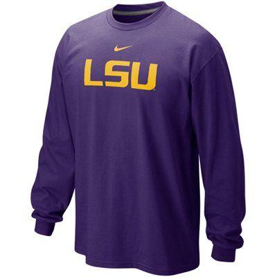 best service 37640 053ea Nike LSU Tigers Classic Logo Long Sleeve T-Shirt - Purple ...
