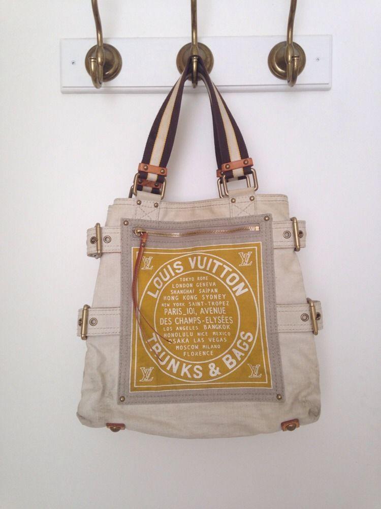 3a0ada3b96f Louis Vuitton Canvas Tote Bag Globe Shoppers MM Discontinued Yellow  Shoulder Bag #LouisVuitton #TotesShoppers