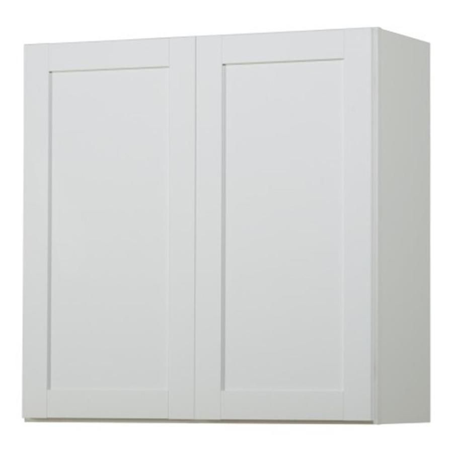 Diamond Now Arcadia 30 In W X 30 In H X 12 In D Truecolor White Door Wall Stock Cabinet Lowes Com Stock Cabinets Kitchen Wall Cabinets Stock Kitchen Cabinets