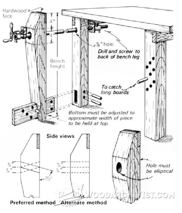 Pleasing Diy Leg Vise Workshop Solutions Projects Tips And Tricks Pabps2019 Chair Design Images Pabps2019Com