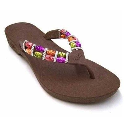 87c3e87f1259b Pali Hawaii Women s PH 328 Thong Sandal-Brown-Size 6